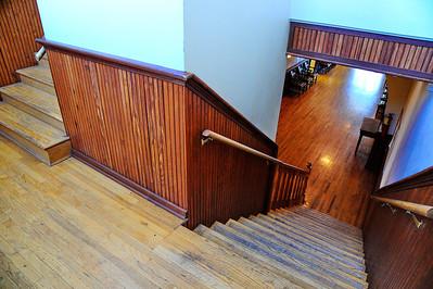 Stairwell and Hardwood Floors