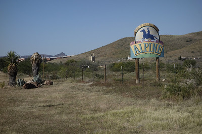 Alpine Entrance Sign