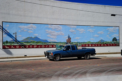Downtown Alpine Building with Mural