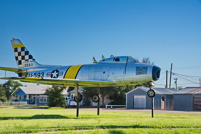 F-86 Sabre Jet Fighter in front of the VFW Hall