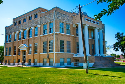 Briscoe County Courthouse Corner View