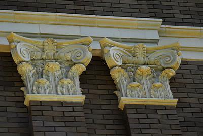 Exterior Details:  Top of Columns