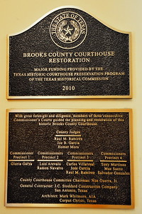 Brooks County Courthouse Restoration Plaque