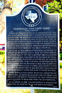 Texas Historical Commission Marker:  Greenleaf Fisk