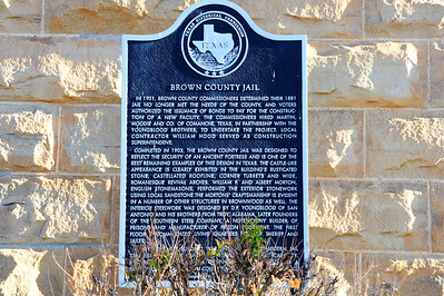 Texas Historical Commission Marker:  Brown County Jail