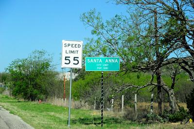 Santa Anna Town Sign