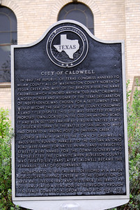 Texas Historical Commission Marker:  City of Caldwell