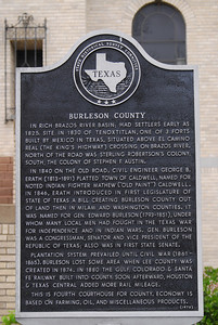 Texas Historical Commission Marker:  Burleson County