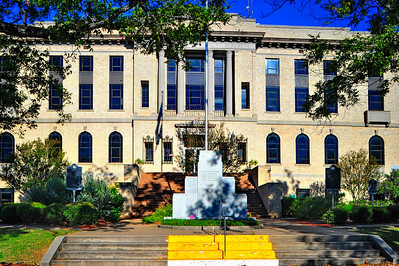 Burleson County Courthouse Front Facade