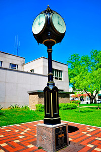 Clock on the Courthouse Grounds