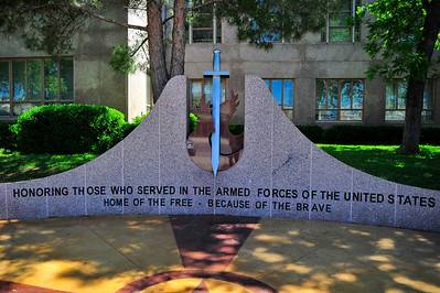 Veterans Memorial at the Burnet County Courthouse