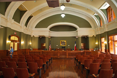 Courtroom of the Cameron County Courthouse