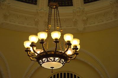 Chandelier in the Rotunda