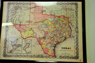 1856 Map of Texas
