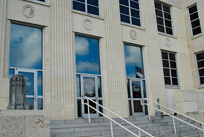 Front Entrance  Chambers County Courthouse;  Anahuac,, Texas