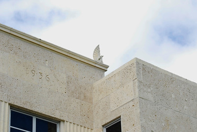 Roof Eagle on the Chambers County Courthouse;  Anahuac,, Texas