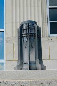 Front Entrance Ornament,  Chambers County Courthouse;  Anahuac,, Texas