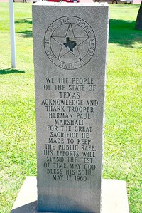 Monument to DPS Trooper Herman Paul Marshall