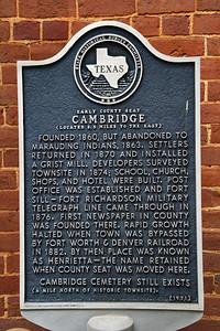 Texas Historical Commission Marker:  Cambridge