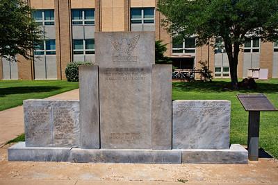 Veterans Memorial at the Cochran County Courthouse:  Morton, Texas