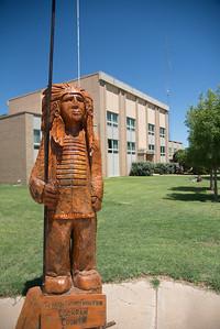 Wooden Indian Cochran County Courthouse:  Morton, Texas