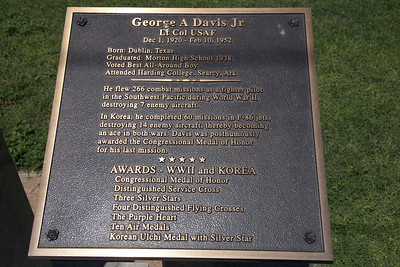 George A. Davis Jr, Lt. Col. USAF Plaque at Cochran County Courthouse:  Morton, Texas