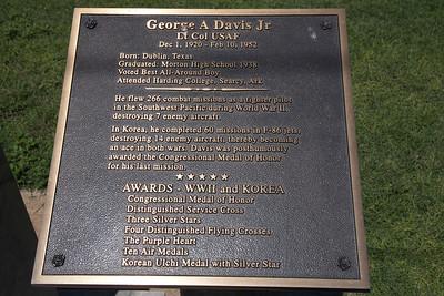 George A. Davis Jr, Lt. Col. USAF Plaque at Cochran County Courthouse:  Morton, Texas