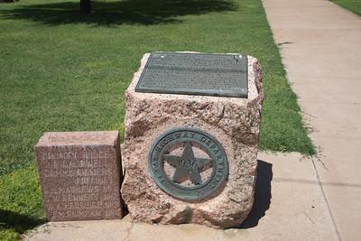 1936 Texas Highway Department Centenial Cochran County Courthouse:  Morton, Texas