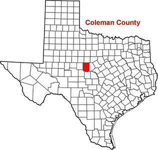 Where is Coleman County?