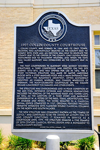 Texas Historical Commission Plaque:  1927 Collin County Courthouse