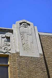 Stone Carving on the Courthouse Wall