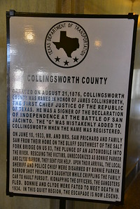 Information Plaque on Collingsworth County