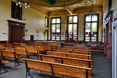 Colorado County Courthouse, Columbus, Texas Courtroom