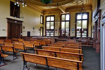 Colorado County Courthouse, Columbus, Texas Courtroom