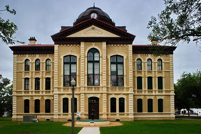 """Colorado County Courthouse, Columbus, Texas  This photo was taken with a Nikon 28mm PC (that's perspective control and not politically correct).   The lens """"shifts"""" correcting that bent look in wide angle lenses."""