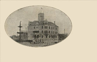 Comal County Courthouse in 1907