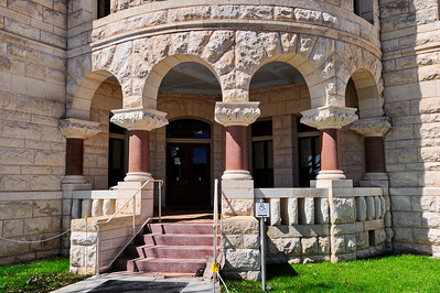 Comal County Courthouse, New Braunfels, Texas Front Pillars