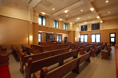 Cooke County Courthouse, Gainesville, Texas Courtroom