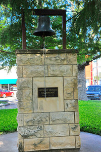 Calling all volunteer firefighters of Gatesville, this bell summoned them to a fire. Coryell County Courthouse, Gatesville, Texas
