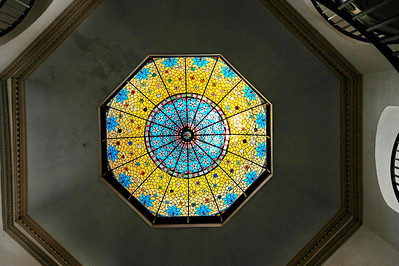 Stained glass dome ceiling  Coryell County Courthouse, Gatesville, Texas