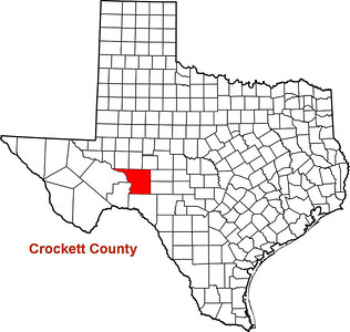 Where is Crockett County? Crockett County Courthouse, Ozona, Texas