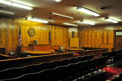 Duval County Courthouse, San Diego, Texas Courtroom
