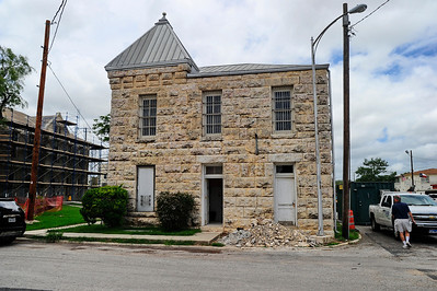 Edwards County jail of 1895 with a hanging trap door on the second floor