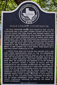 Falls County Courthouse Historical Plaque