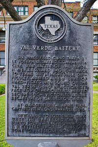 Freestone County Courthouse, Fairfield, Texas Valverde Battery Plaque