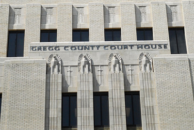 Gregg County Courthouse, Longview, TX Art Deco Eagles above the entrance door