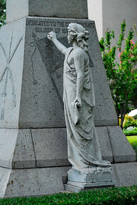 Gregg County Courthouse, Longview, TX A goddess inscribing the names of Confederate heroes on the Gregg County Confederate Memorial