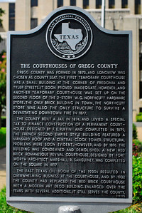 Gregg County Courthouse, Longview, TX Texas Historical Commission plaque
