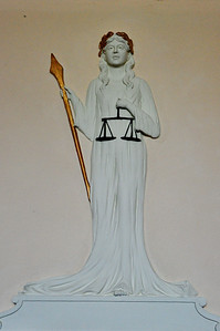 "Hamilton County Courthouse ""Lady Justice"" This was above the Judge's chair in the courtroom."