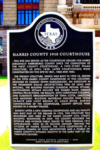Harris County 1910 Courthouse  Historical Marker
